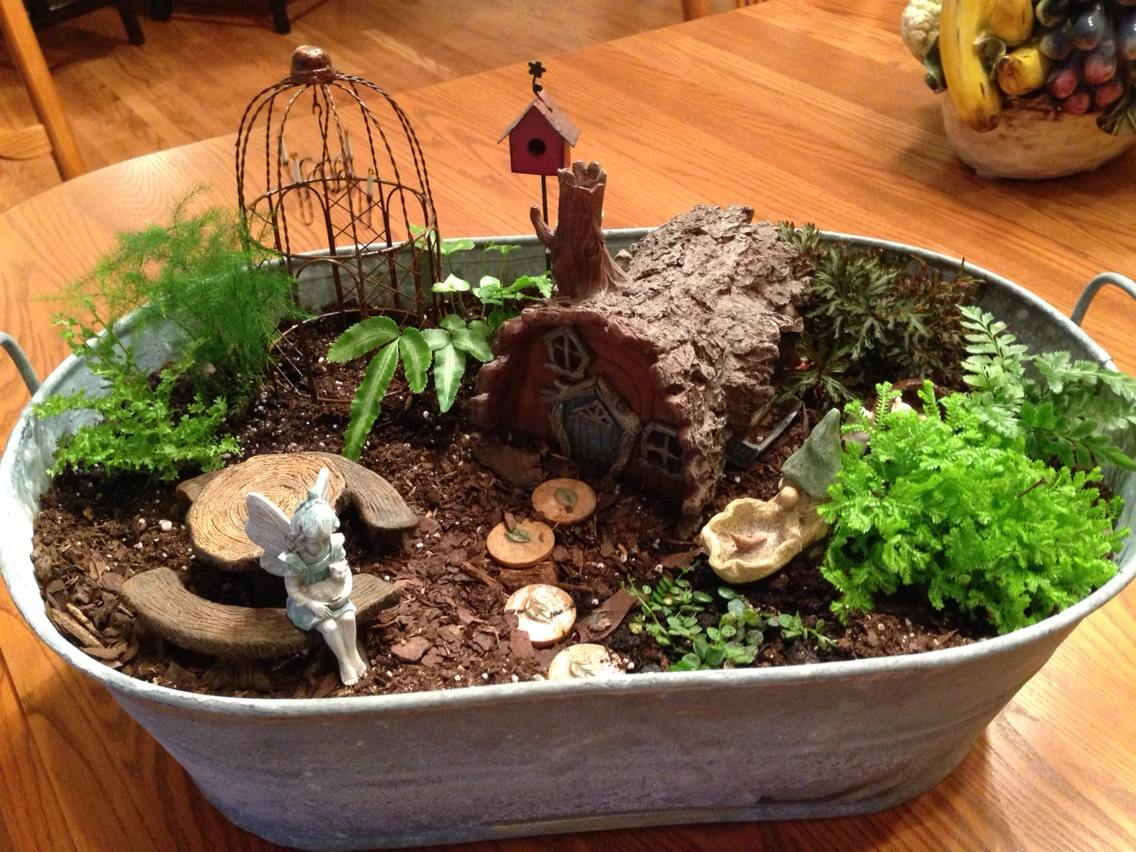 The magic of fairy gardens beautifulgardener - How to make a fairy garden container ...