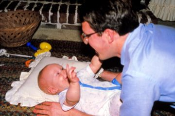 Jim with baby
